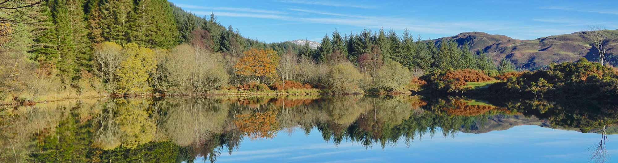 Llyn Tan-y-Graig in Autumn