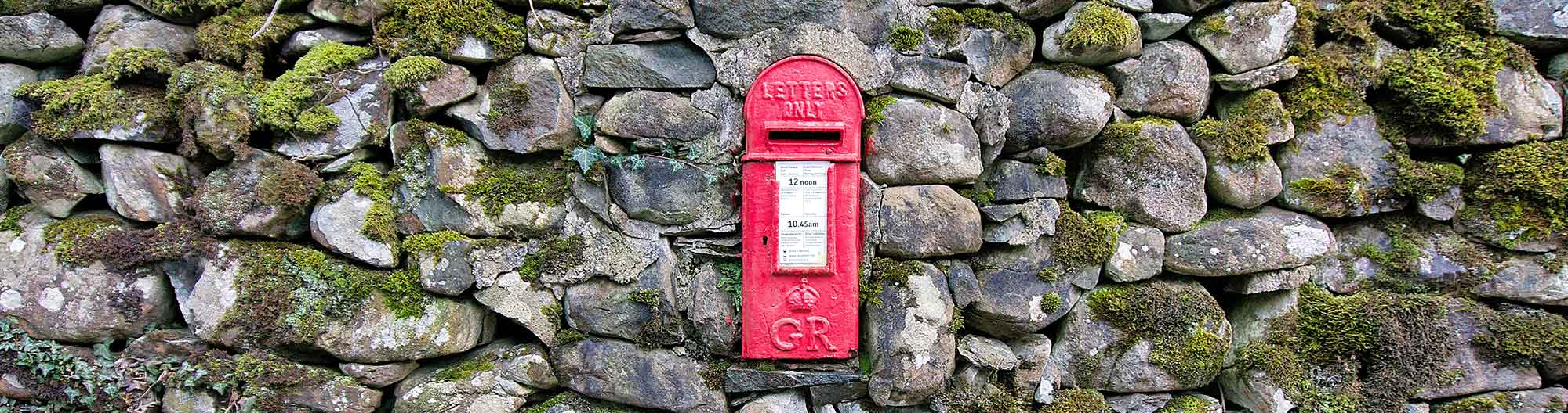 George V Postbox Set in the Wall of Yr Hen Ardd