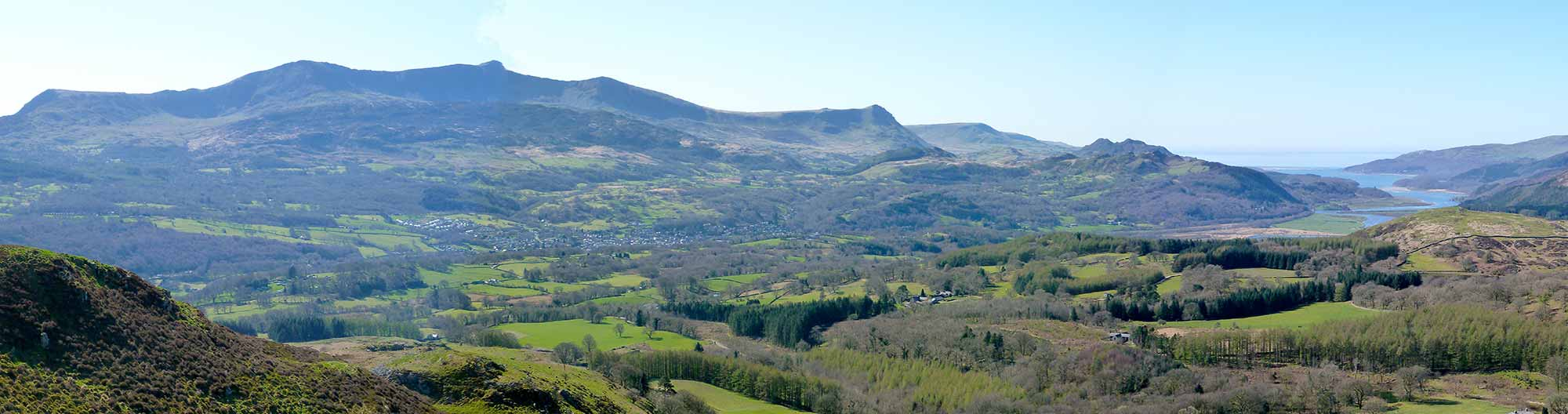 Dolgellau, Cader Idris and The Mawddach Estuary from Foel Offrwm