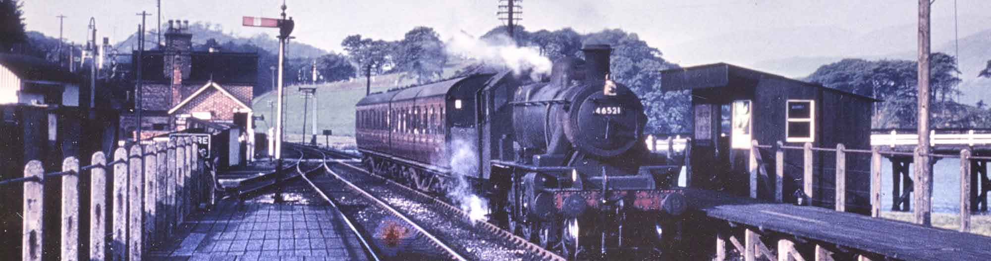 A Steam Train at Penmaenpool Station