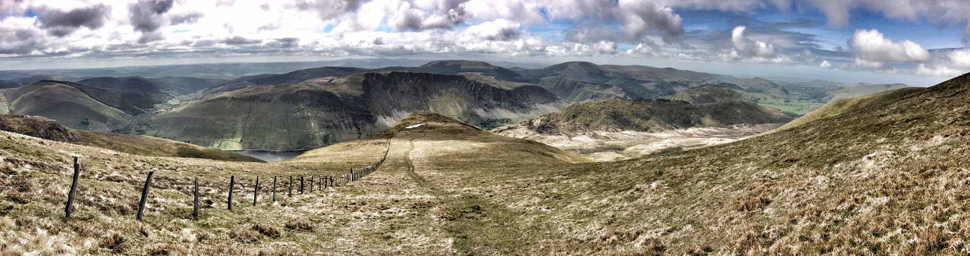 Looking Down the Ridge to Tal-y-Llyn