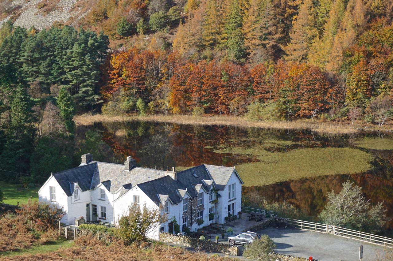 The Gwernan Lake Hotel in Autumn 1