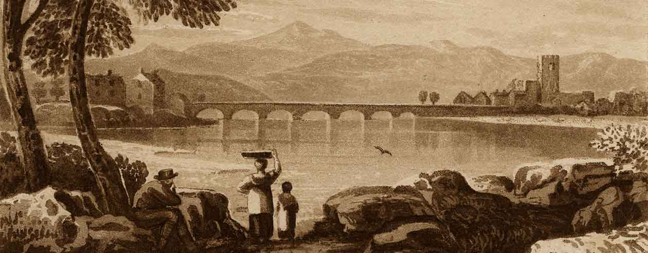 'Dolgelley Bridge' Painted in Sepia c.1830