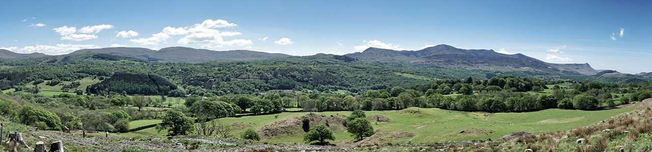 View from the Nannau Deer Park